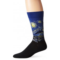 Hot Sox Men's Starry Night Sock, Fits Shoe Size 6 - 12.5