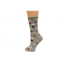 Hot Socks Snowglobes Women's Socks 1 Pair, Sweatshirt Grey, Women's Shoe Size 9-11