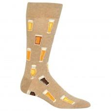 Hot Sox Beer Crew Socks 1 Pair, Hemp Heather, Men's 6-12.5 Shoe