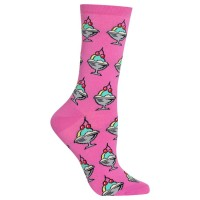 HotSox Womens Ice Cream Sundae Socks, Pink, 1 Pair, Womens Shoe 4-10