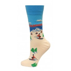 Hot Sox Men's Travel Series Novelty Crew Socks, Colorado (Sky Blue), Shoe Size: 6-12