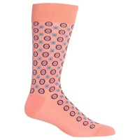 HotSox Mens Mixed Circle Socks, Blush, 1 Pair, Mens Shoe 6-12.5