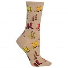 Hot Sox Boots Crew Socks, 1 Pair, Hemp Heather, Women's 4-10 Shoe