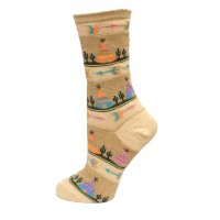 HotSox Womens Tee Pee Socks, Oatmeal Heather, 1 Pair, Womens Shoe 4-10