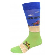 Hot Sox Men's Travel Series Novelty Crew Socks, Kentucky (Blue), Shoe Size: 6-12
