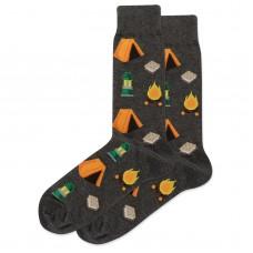 HotSox Camping Socks, Charcoal Heather, 1 Pair, Men Shoe 6-12.5