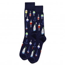 HotSox Buoy Socks, Navy, 1 Pair, Men Shoe 6-12.5