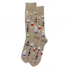 HotSox Buoy Socks, Hemp Heather, 1 Pair, Men Shoe 6-12.5