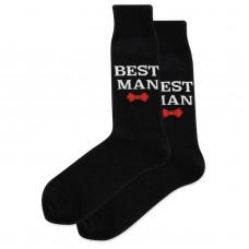 HotSox Best Man Socks, Black, 1 Pair, Men Shoe 6-12.5