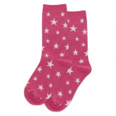 HotSox Glow In The Dark Stars Kids Socks, Magenta, 1 Pair, Large/X-Large