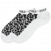 K. Bell Wild Golfer w/Rhinestones Socks, White, Sock Size 9-11/Shoe Size 4-10, 1 Pair