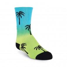 K. Bell Kid's Palm Crew Socks, Rainbow, Sock Size 7.5-9/Shoe Size 11-4, 1 Pair