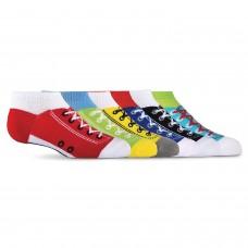 K. Bell Kid's Sneaker No Show Socks, Multi Bright, Sock Size 7.5-9/Shoe Size 11-4, 6 Pair