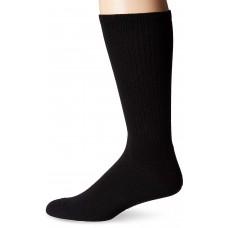 K. Bell Men's Basic Sport Crew Socks, Black, Sock Size 10-13/Shoe Size 6.5-12, 1 Pair