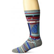 K. Bell Men's Laurel Burch Matisse Dog Crew Socks, Charcoal Heather, Sock Size 10-13/Shoe Size 6.5-12, 1 Pair