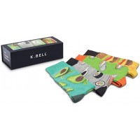 K. Bell Super Heroes Gift Box, Black Assorted, Mens Sock Size 10-13/Shoe Size 6.5-12, 4 Pair