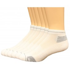 Lee Men's Low Cut Antimicrobial & Odor Control Socks 6 Pair, White, Men's 6-12