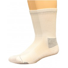Lee Men's Antimicrobial & Odor Control Crew Socks 6 Pair, White, Men's 6-12