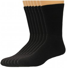 Lee Men's Full Cushioned Crew Socks 11 Pair, Black, Men's 6-12
