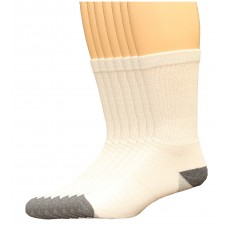 Lee Men's Crew Sport Socks 7 Pair, White, Men's 6-12