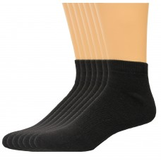 Lee Men's Big & Tall Low Cut Socks 7 Pair, Black, Men's 13-16