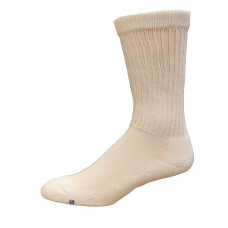 Medipeds Coolmax Cotton Half Cushion Crew Socks 2 Pair, White, W4-10