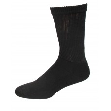 Medipeds Coolmax Cotton Half Cushion Crew Socks 2 Pair, Black, M9-12.5
