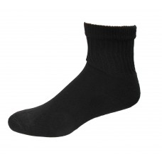 Medipeds Coolmax Cotton Half Cushion Quarter Socks 2 Pair, Black, M9-12.5