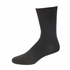 Medipeds Cotton Aloe Infused Roll Top Crew Socks 3 Pair, Black, W4-10