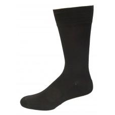 Medipeds Sorbtek Poly Half Cushion Dress Crew Socks 4 Pair, Black, M13-15