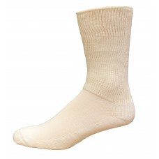 Medipeds Coolmax Cotton Half Cushion Extra Wide Crew Socks 2 Pair, White, M9-12.5