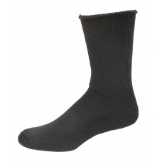 Medipeds Coolmax Cotton Half Cushion Extra Wide Crew Socks 2 Pair, Black, M9-12.5
