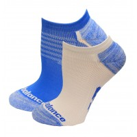 New Balance Strategic Cushion Running No Show Socks, Vision Blue, (S) Ladies 4-6, 3 Pair