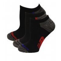 New Balance Strategic Cushion Running No Show Socks, Red Heather, (S) Ladies 4-6, 3 Pair