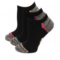New Balance Strategic Cushion Running No Show Socks, Pink, (S) Ladies 4-6, 3 Pair