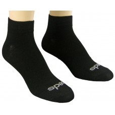 Peds Flat Knit Quarter Crew, Black, Womens Size 5-10, 4 Pair