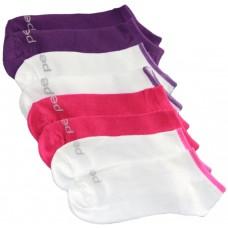 Peds Fashion Low Cut Purple Assortment, 4 Pair, Women 5-10