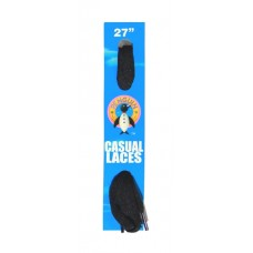 Penguin Flat Laces, 27, Black