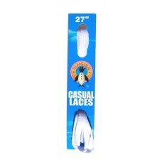 Penguin Flat Laces, 27, White
