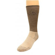 RealTree Cupron Antimicrobial Boot Socks, 1 Pair, Large (M 9-13), Brown