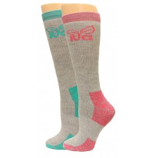 RealTree Ladies Boot Socks, 2 Pair, Medium (W 6-9), Teal/Fuchsia