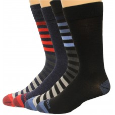 Rockport Men's Crew Socks 4 Pair, Striped Assort. #2, Men's 8-12
