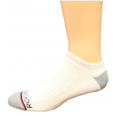Rockport Men's No Show Socks 4 Pair, White, Men's 8-12