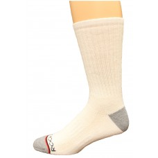 Rockport Men's Crew Socks 4 Pair, White, Men's 8-12