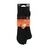 Sof Sole Men's All Sport No Show Sock 3 Pair, Black, Men's Shoe 5-9.5