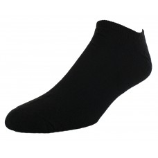 Sof Sole All Sport No Show Athletic Performance Socks, Black, Mens Large 10-12.5, 6-Pack