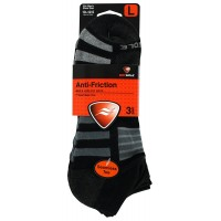 SOFSOLE Anti-Friction LOW CUT Athletic Sock - 3 Pair (Men's Large - M8-12.5, Cool/BLack)