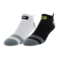 Sof Sole Runnin Select Men's Tab Performance Sock 2 Pair, Black/White, Men's Shoe Size 8-12.5