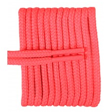 FeetPeople High Quality Round Laces For Boots And Shoes, Neon Pink