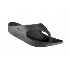 Telic Flip Flop Arch Supportive Recovery Sandal Unisex, Black